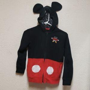 Mickey Mouse Hooded Full Zip Sweatshirt